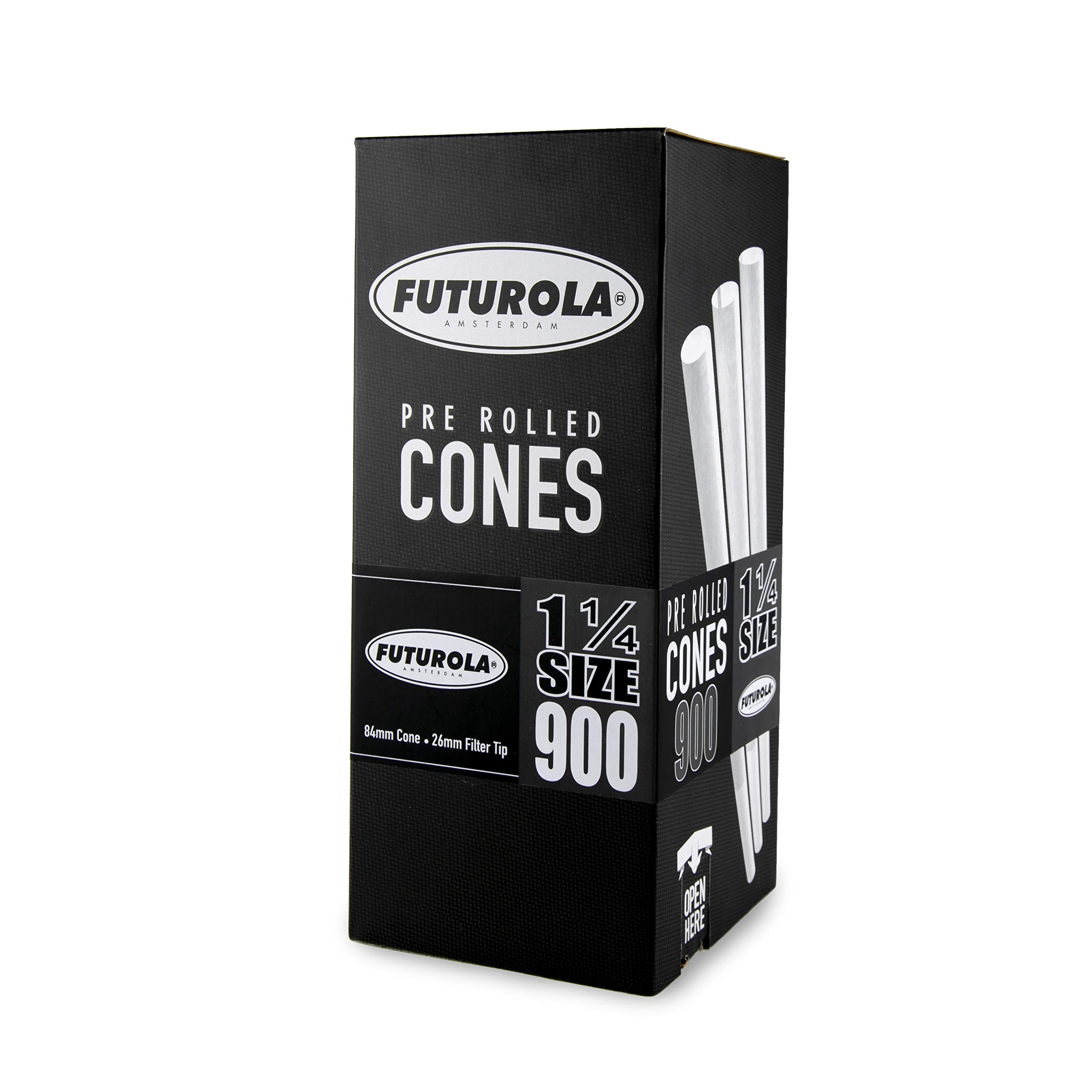 Futurola - Unrefined Super Thin Pre Rolled Cones - (900, 1 1/4 - White)