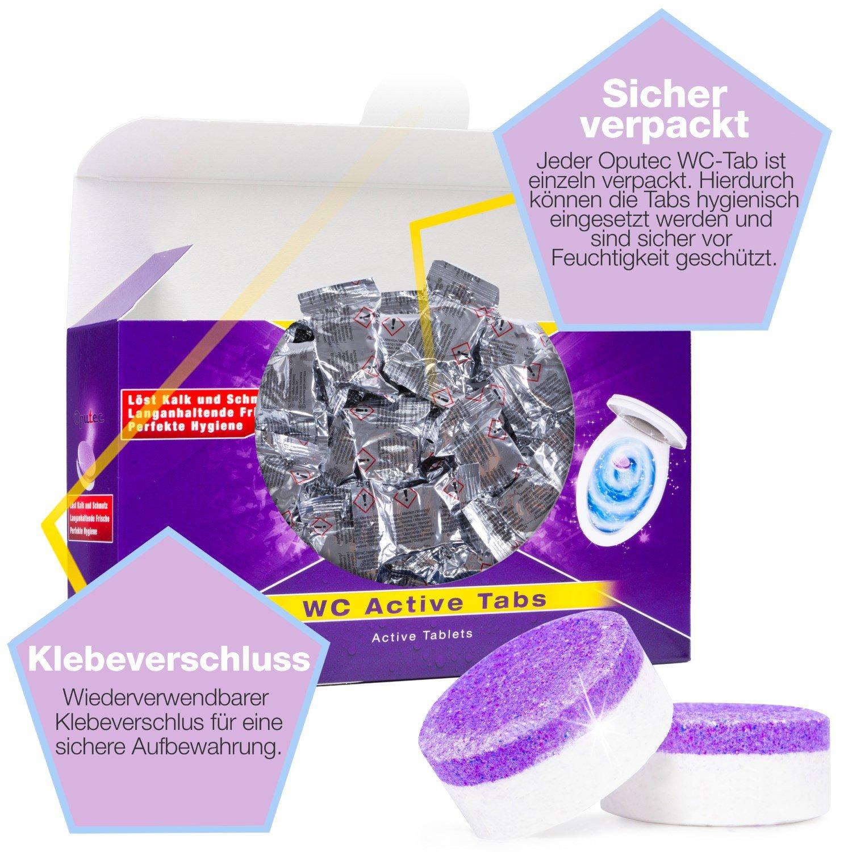 30x Oputec WC Active Tabs: Para la limpieza de WCs, inodoros ...