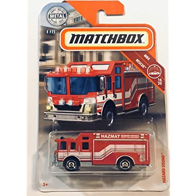 2020 Matchbox Hazard Squad Red #60/100 MBX /Rescue 16/20 Fire Truck Engine Play Vehicle 1:64 Scale Die Cast: Toys & Games