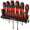 18-Piece Stalwart Screwdriver Set with Wall Mount and Magnetic Tips
