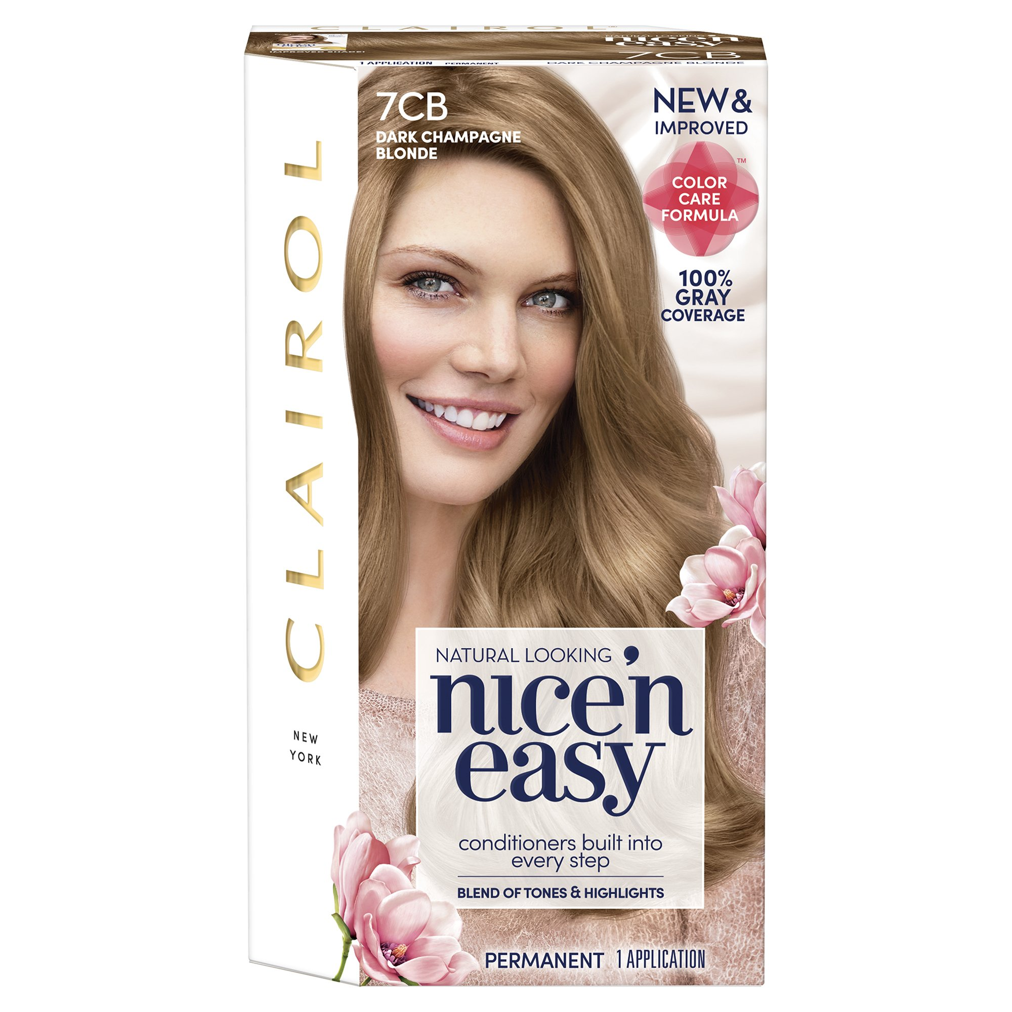 Clairol Nice 'n Easy, 7CB/106B Dark Champagne Blonde, Permanent Hair Color, 1 Kit (Pack of 3) (Packaging May Vary) by Clairol