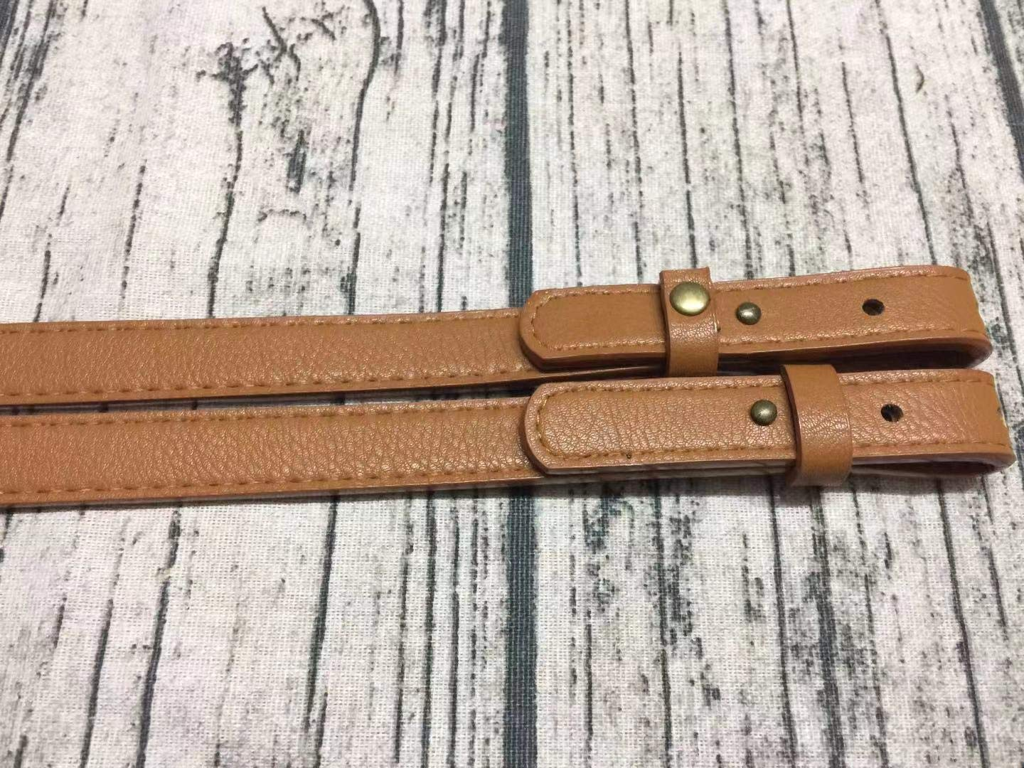 Light Brown Classic PU Leather Replacement Strap for Handbag Purse HinLot Pack of 2 Adjustable Shoulder Bag Strap