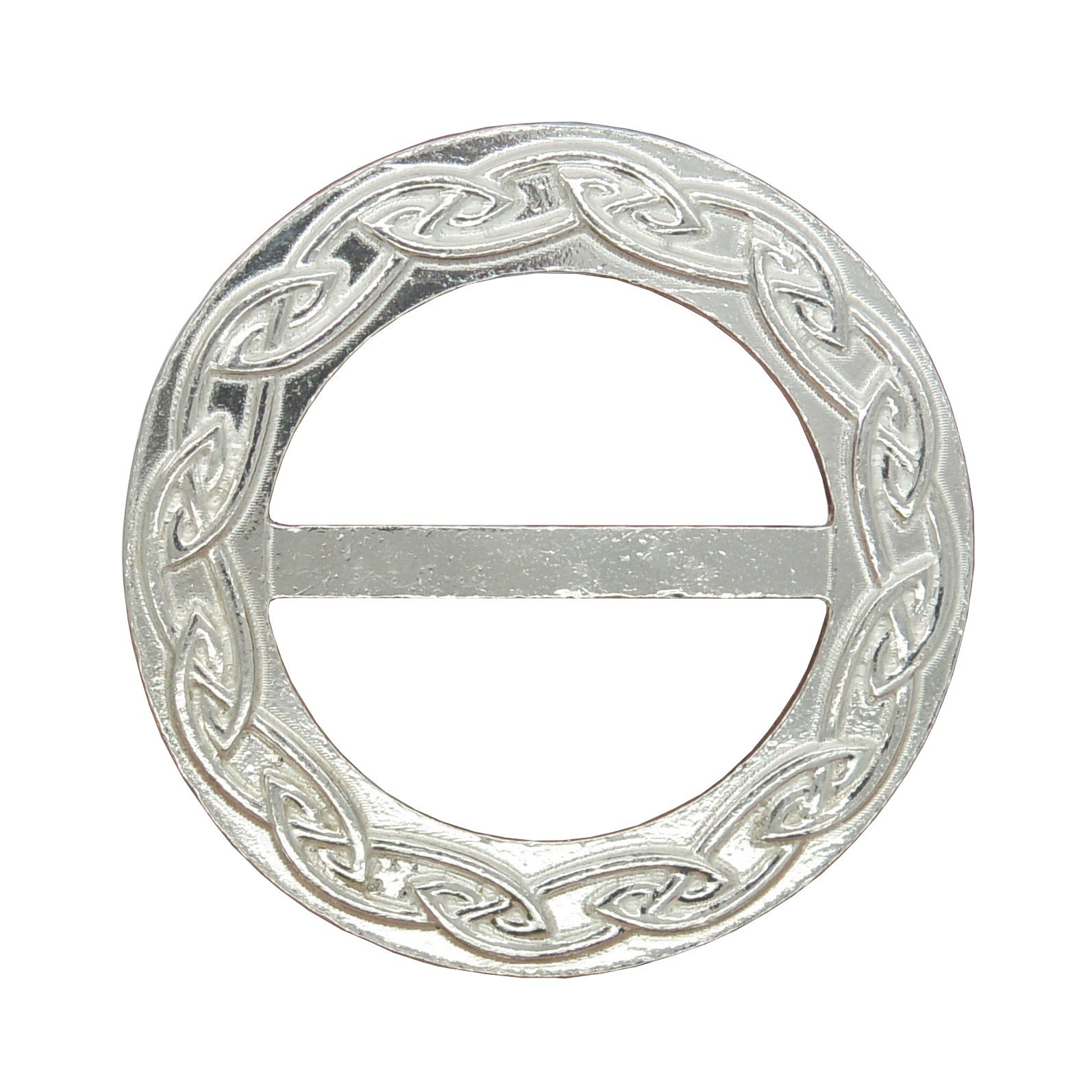 Luxury Fine Pewter Celtic Plait Scarf Ring, Handcast by William Sturt