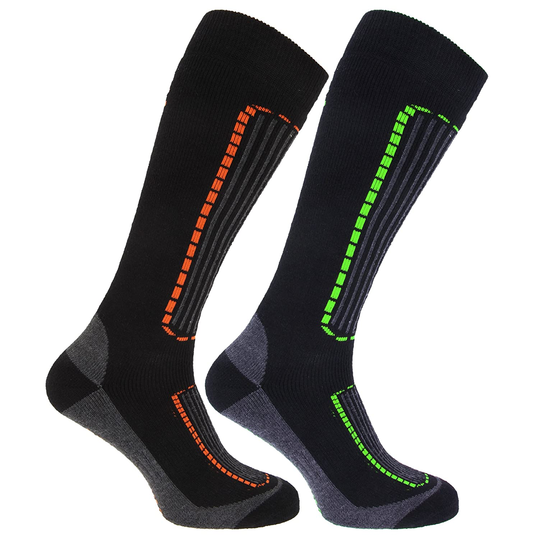 FLOSO® Herren Ski-Socken, 2er-Pack