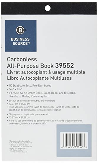 AmazonCom  Business Source AllPurpose Forms Book Duplicate