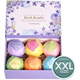 LuxSpa Bath Bombs Gift Set - The Best Ultra Lush Natural Bubble Fizzies With Dead Sea Salt Cocoa And Shea Essential Oils, 6 x 4.1 oz, The Best Birthday Gift idea For Her/Him, wife, girlfriend, women