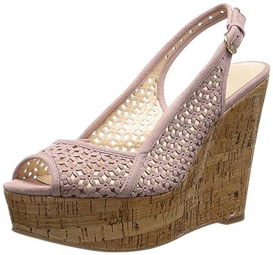 acc852bfce Amazon.com | Nine West Women's Axey Suede, Pink, 10 M US | Platforms ...