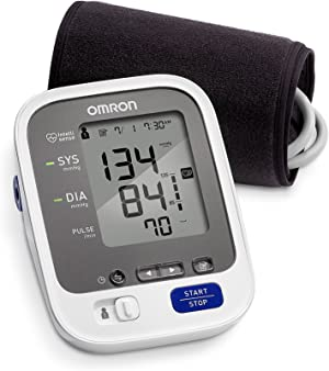 Omron 7 Series Wireless Upper Arm Blood Pressure Monitor; 2-User, 120-Reading Memory, BP Indicator LEDs, Bluetooth Works with Amazon Alexa by Omron