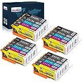 OfficeWorld 550XL 551XL ersättning för Canon PGI-550 CLI-551 bläckpatroner kompatibla med Canon PIXMA IP7250 IP8750…