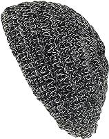 Damenbaske in schwarz/grau