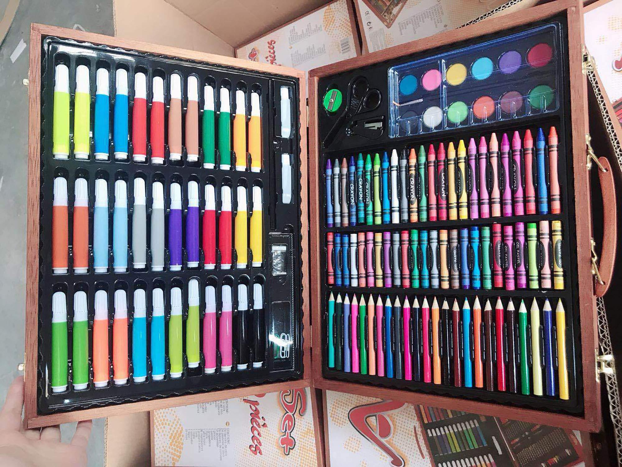 Watercolor Pen Set for Children Wooden Box Children's Gift Watercolor Pen Set Painting Learning Kit Children's Stationery
