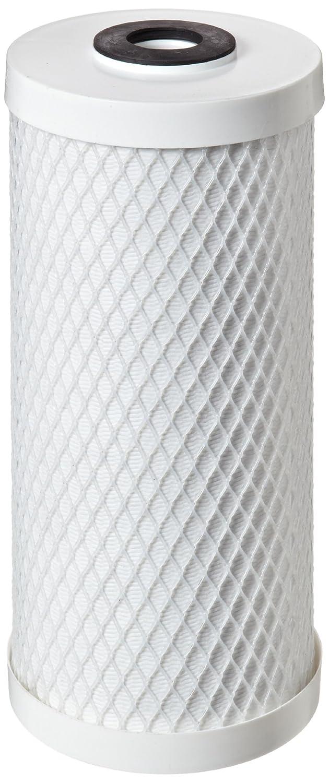 Pentek CBC - Cartucho de filtro de bloque de carbono, 0,5 micras, 9-3/4' H x 2-7/8' W, 0.5 Micron, blanco, 1 9-3/4 H x 2-7/8 W Pentair Industries CBC-10