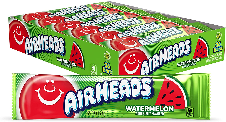 Airheads Watermelon Candy - .55 oz. Bar, 36 Pack: Amazon.es: Alimentación y bebidas