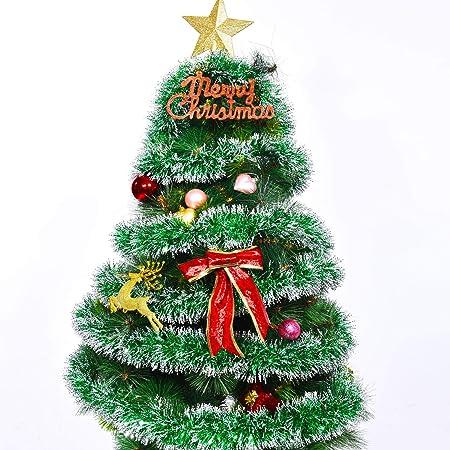 32.8 Pies Guirnalda de Oropel de Navidad Brillante Gruesa Nevada ...