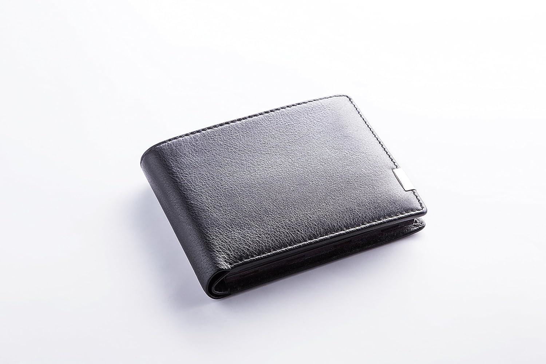 Eimix Nappa Schwarz Geldbörse Für Münzen Schnell Flach Sortiert