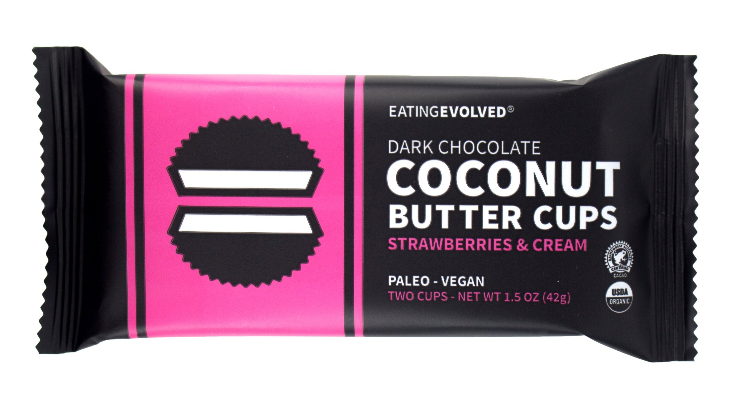 Eating Evolved - Organic Coconut Butter Cups, 1.5 oz each (9 Count) (Strawberry)