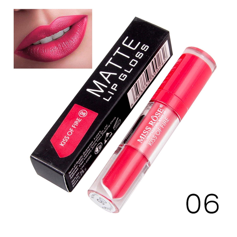 Bluestercool Mat Rouge à lèvres Longue Durée Imperméable Brillant À Lèvres Beauté Outils (06#)