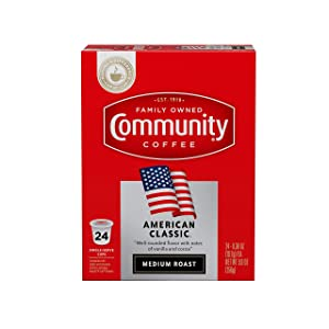 Community Coffee American Classic Single Serve Pods, Compatible with Keurig 2.0 K Cup Brewers, 24Count (Pack Of 4), American Classic, 96Count