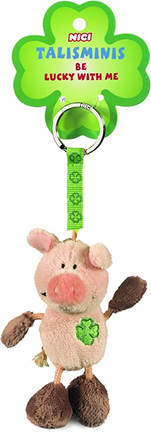 Nici 33688 Schwein Beanbag Schlüsselanhänger Talismin 7 Cm Rosa Braun Spielzeug