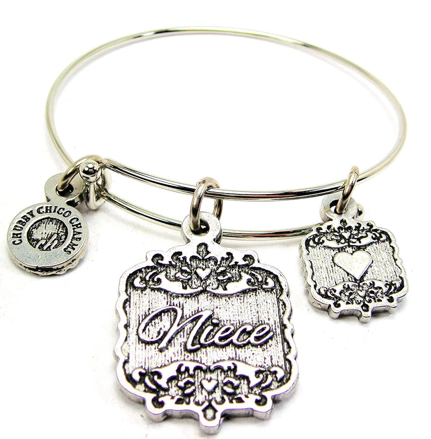 2.5 Chubby Chico Charms Niece Victorian Scroll Expandable Wire Bangle