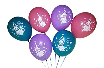 Image Unavailable Not Available For Color Kitty Cat Birthday Party Balloon Decorations