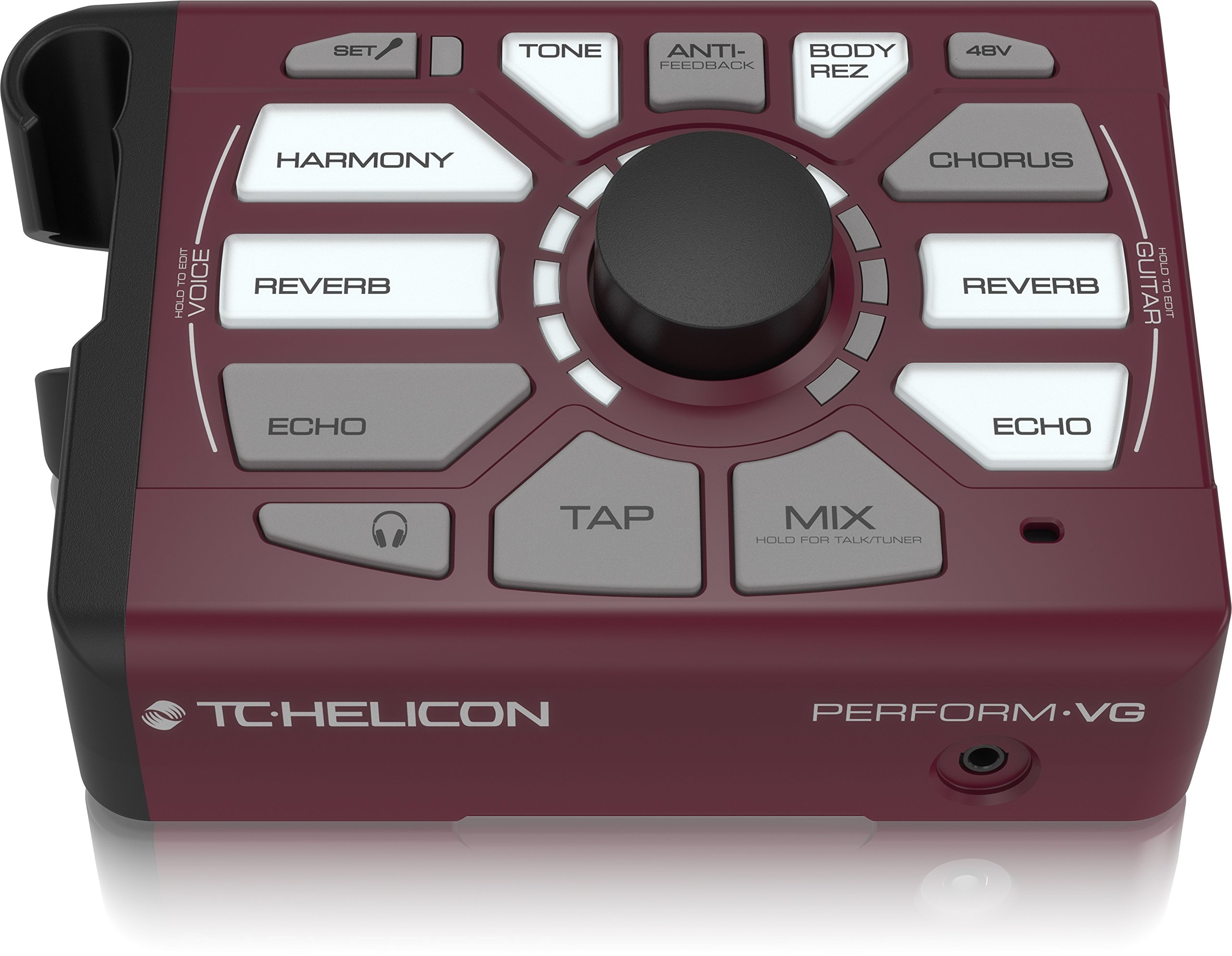 TC-Helicon 996369005 Perform VG Vocal Effect Processor, Burgundy