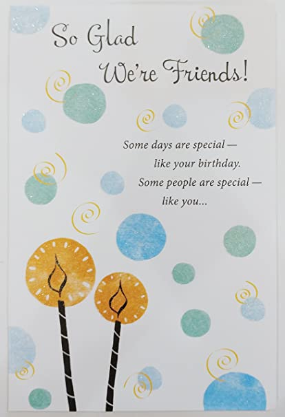 Amazon so glad were friends happy birthday greeting card so glad were friends happy birthday greeting card quotenjoy your day m4hsunfo