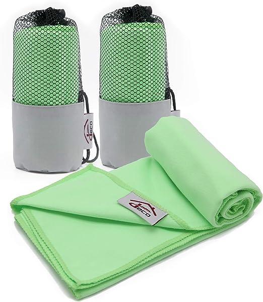 Decocasa Microfibra Compactas, Ligeras y Absorbentes, Verde, Pack ...