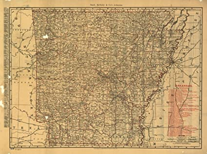 Amazon.com: Map: 1898 The Rand McNally indexed county and ...