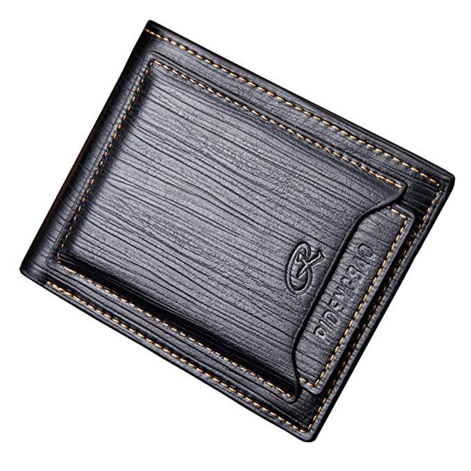 a958467d96cb Men Short Bifold Wallet, Retro Business Male Purse Card Holders at ...
