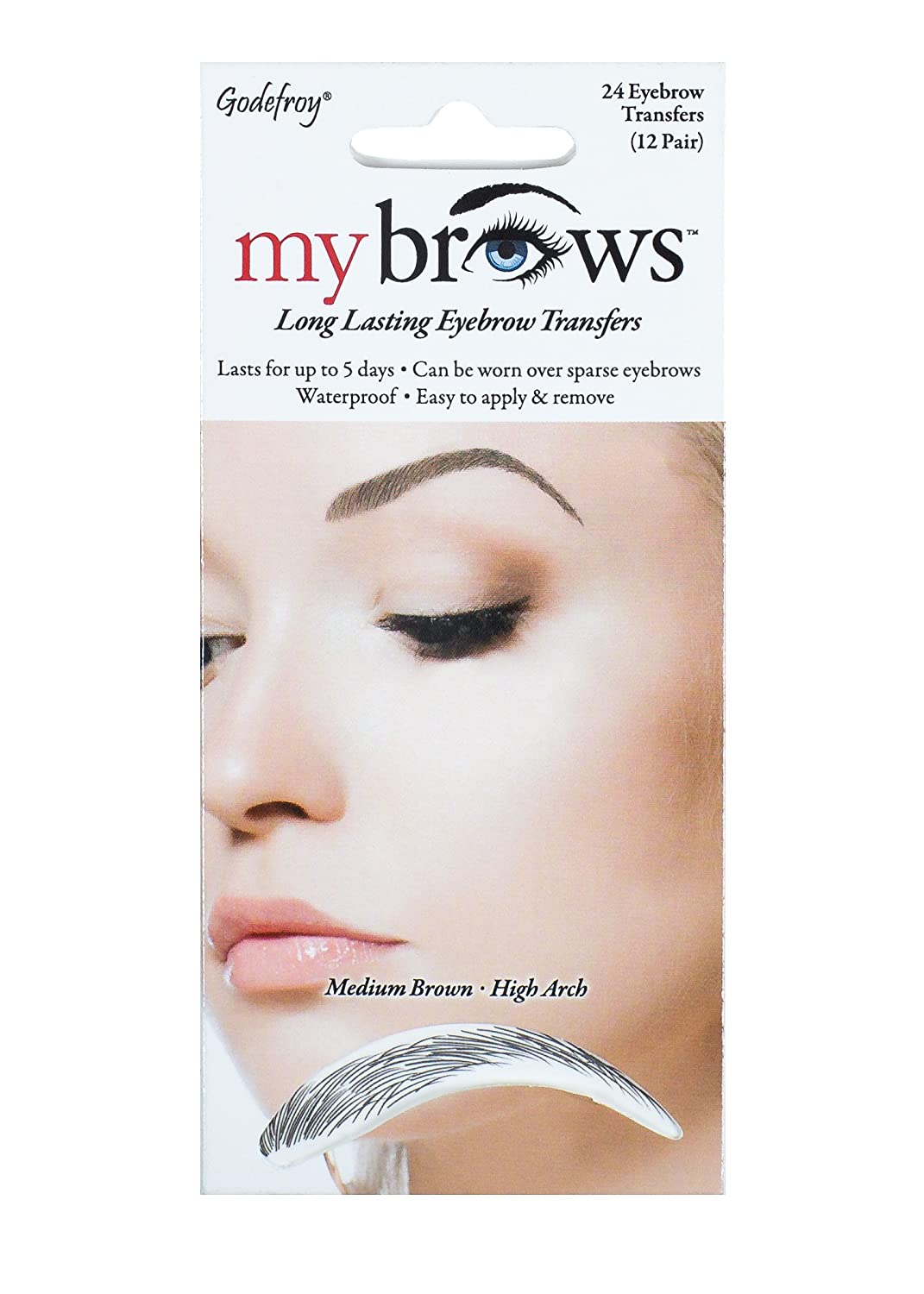 Amazon Godefroy Mybrows High Arch Eyebrow Tattoo Medium Brown