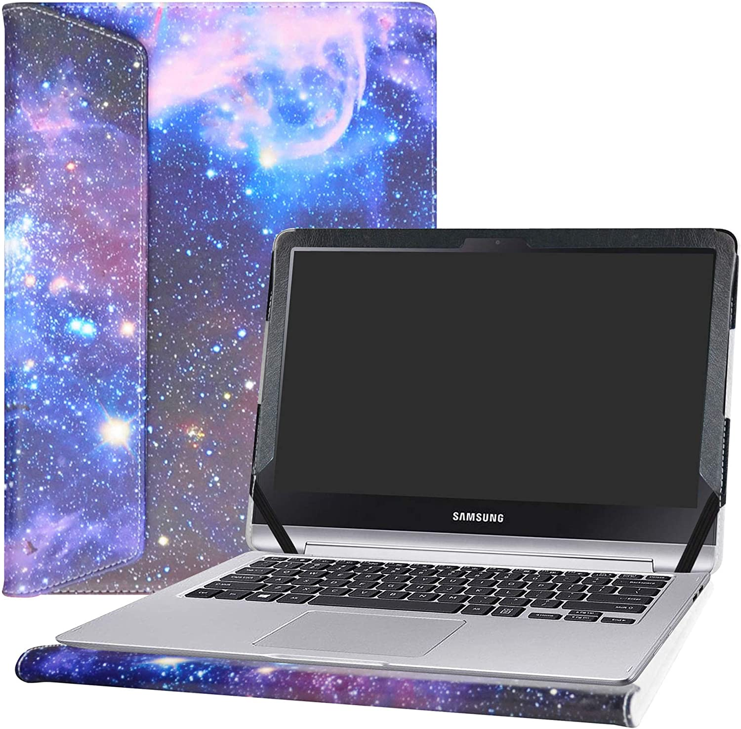 """Alapmk Protective Case Cover for 13.3"""" Samsung Notebook 7 Spin 13 NP740U3L NP740U3M Series Laptop(Warning:Not Fit Samsung Notebook 7 Spin 13 NP730QAA 2018),Galaxy"""