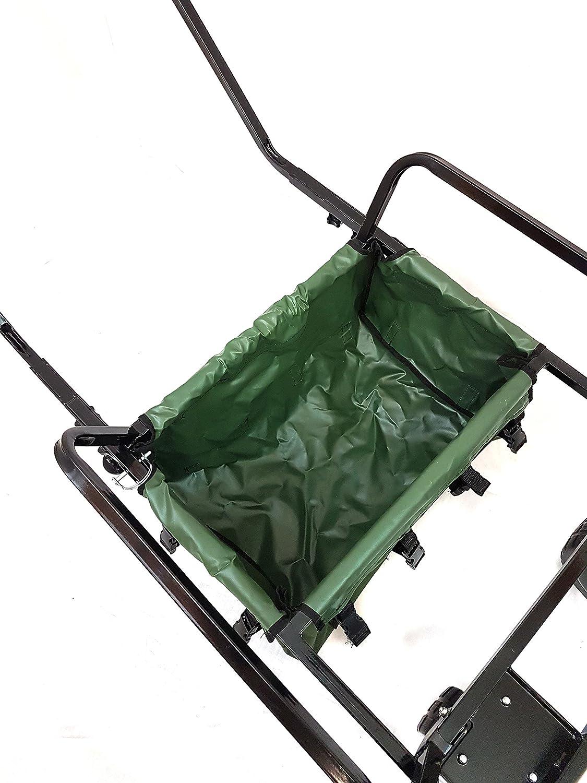 Carro de pesca de dos ruedas resistente con bolsa de BISON
