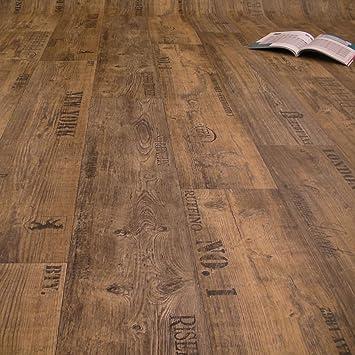 Frisch PVC Bodenbelag Rustikal Dunkel mit Aufdruck Breite 4 m (9,95 € p  FF04
