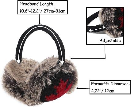 Amorar Winter Earmuffs Dames Filles Cache-Oreilles Chaud en Peluche Ear Warmer Oreille Couverture pour Sport en Plein Air