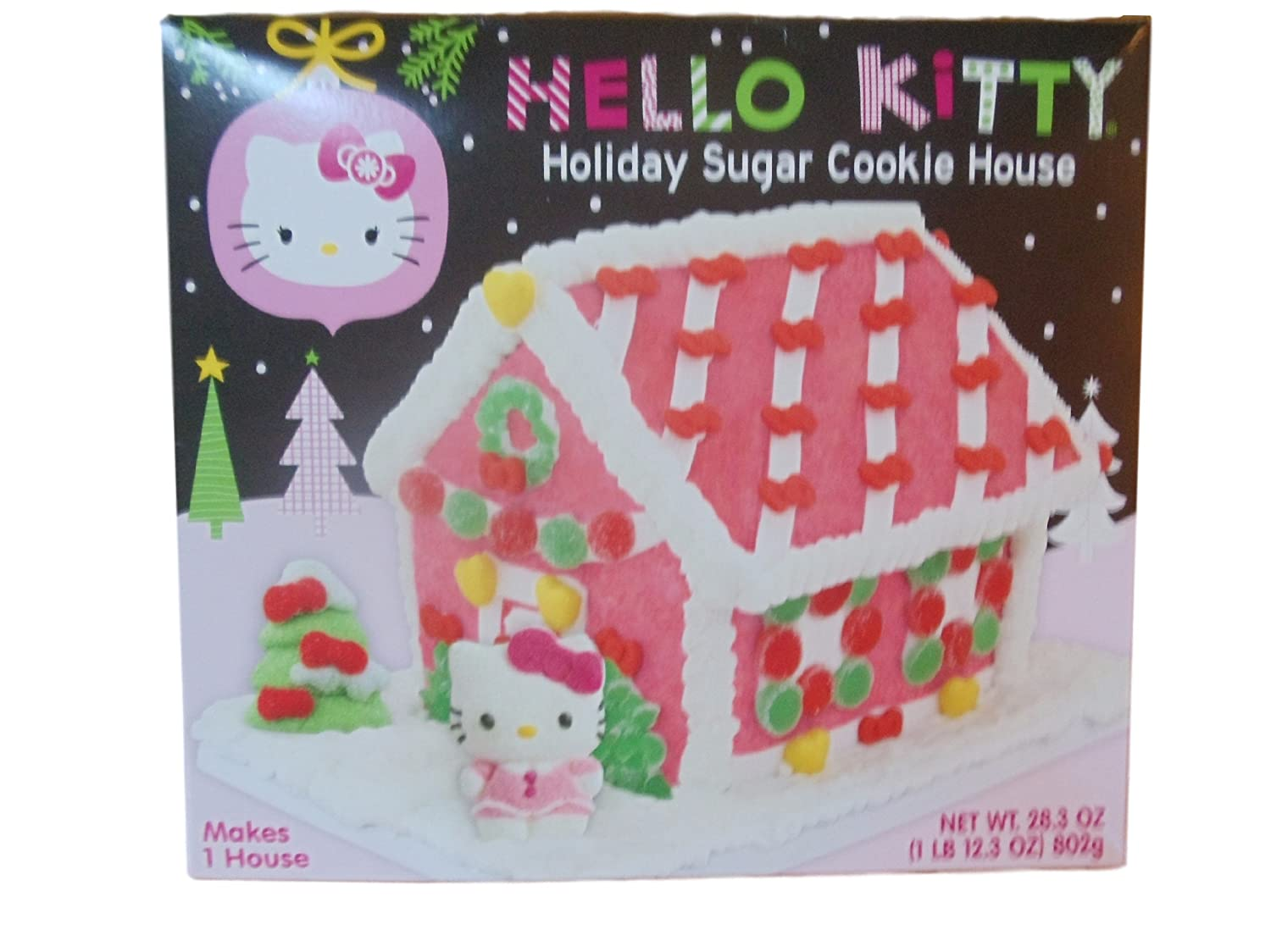 Amazon Com Hello Kitty Holiday Sugar Cookie House Kit Grocery