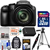 Panasonic Lumix DC-FZ80 4K Wi-Fi Digital Camera with 32GB Card + Backpack + Battery + Tripod + Kit