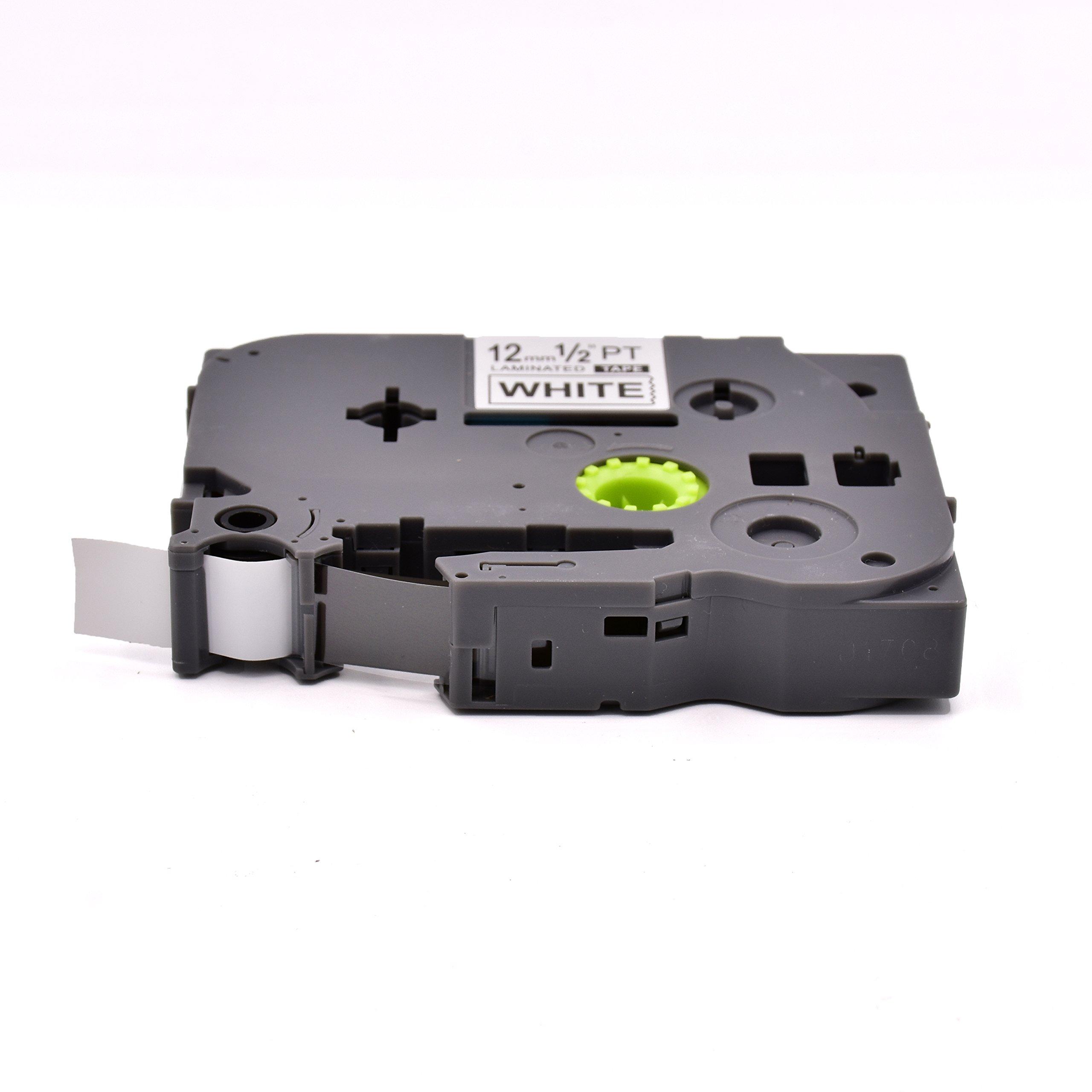 P-Touch TZ TZe Label Tape TZe-231 TZe-931 TZe-431 TZe-531 TZe-631 TZe-731 for Brother P-Touch Label Maker PT-D210 PT-D400 PT-P700 PT-1880, 0.47 inch (12mm) x 26.2 Feet (8m),6-Pack