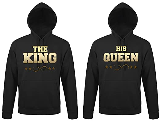 "TRVPPY 2x Pareja Suéter Sudadera con capucha / Modelo ""THE KING + HIS QUEEN"""