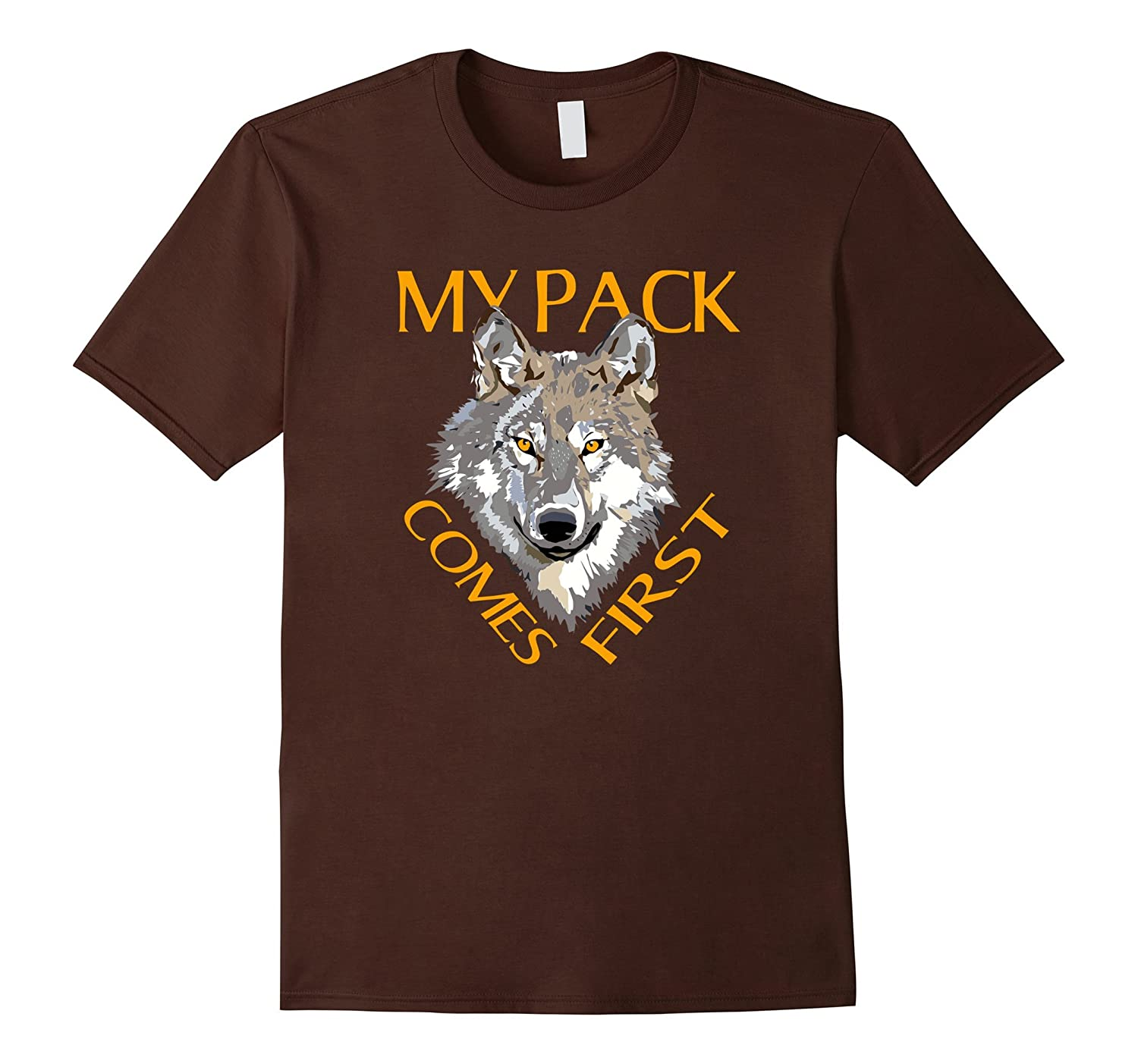 Alpha Shirt My Pack First Design Wolfisms Wolves Wolf Head-TH