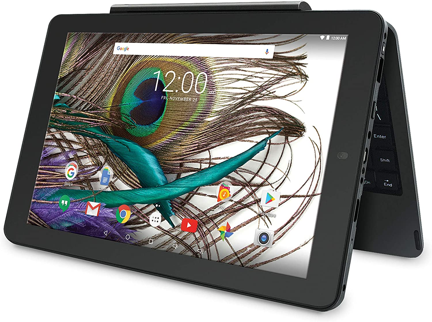 Amazon Com 2019 Rca Viking Pro 10 1 Touchscreen 2 In 1 Tablet Laptop Quad Core Processor 1gb Ram 32gb Ssd Wifi Hdmi Detachable Keyboard Android 5 0 Os Charcoal Computers Accessories
