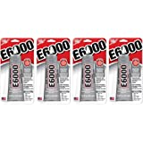E6000 237032 Multipurpose WRYeyW Adhesive, 2 fl oz Clear (Pack of 4)