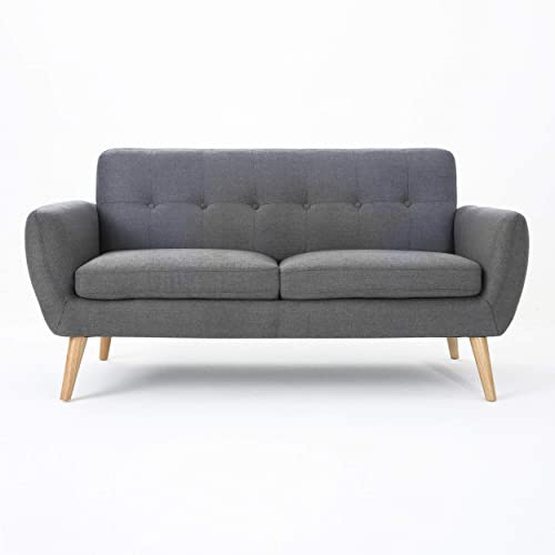Christopher Knight Home Josephine Mid-Century Modern Petite Fabric Sofa
