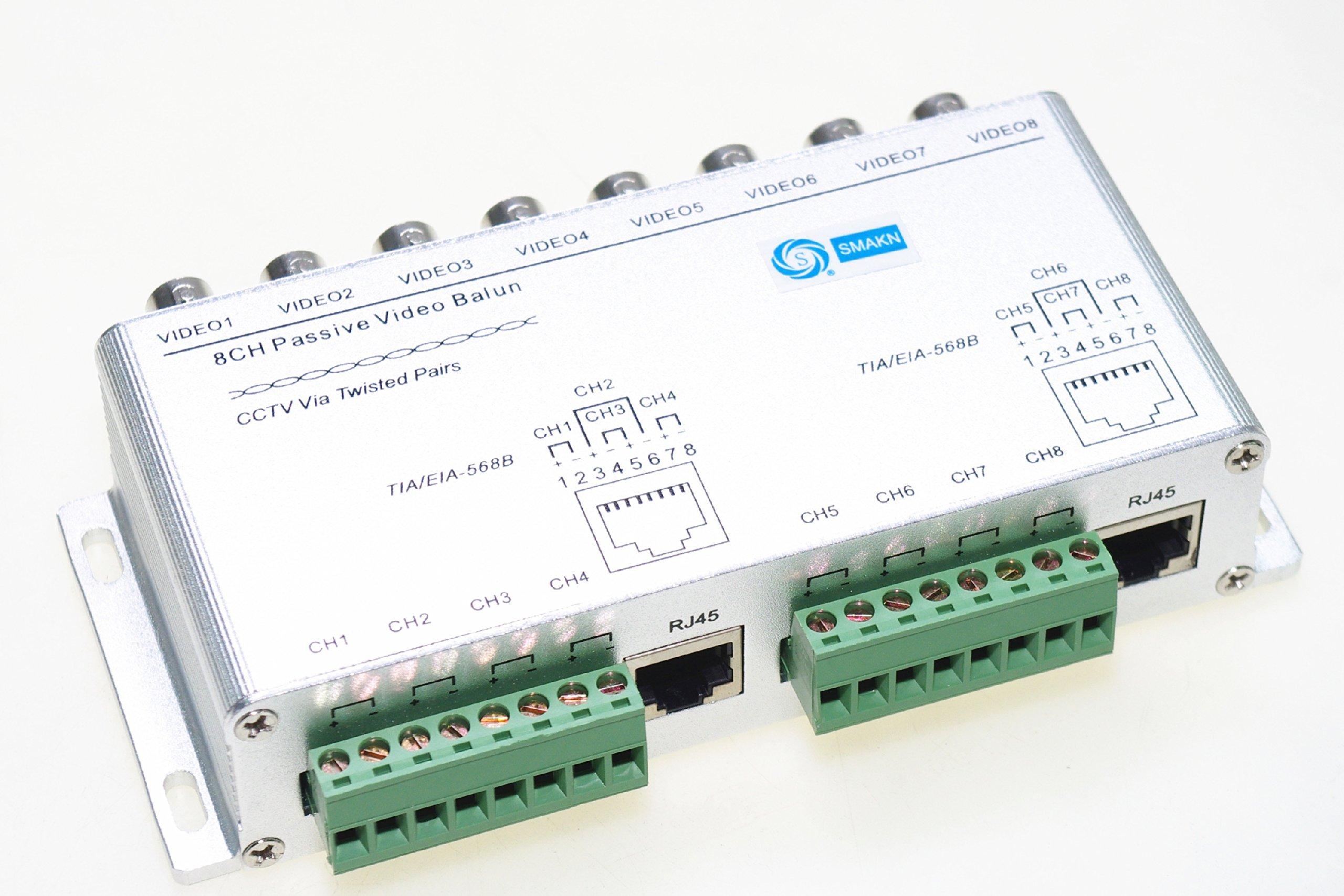 SMAKN® 8Ch Passive Receiver Transmitter Video Balun UTP Surveillance Security Camera