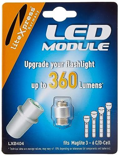 LiteXpress LXB404 - Módulo LED para linterna Maglite, 4-6 pilas C/D