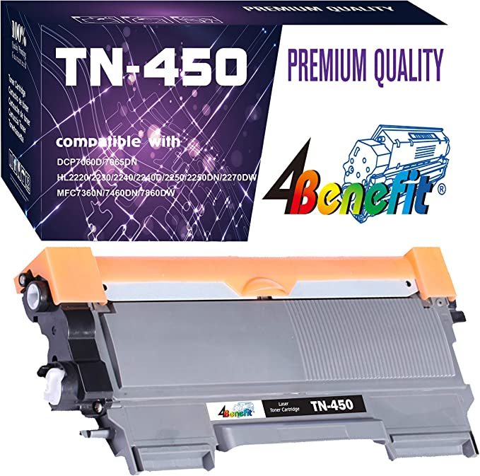 No-name Compatible Toner Cartridge with Drum Unit Replacement for Brother DR450 DR2220 DR2225 TN450 TN2220 TN2225 TN2250 TN2275 TN2280 TN27J DCP7060D DCP7065DN HL2220 HL2230 HL2240 HL2240D HL2250