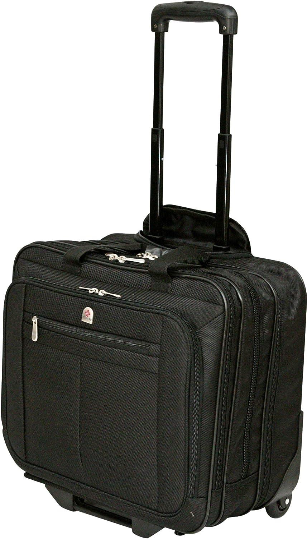 Maleta ejecutiva, para viajes de una noche, con compartimento para portátil de 15 a 17 pulgadas, con ruedas