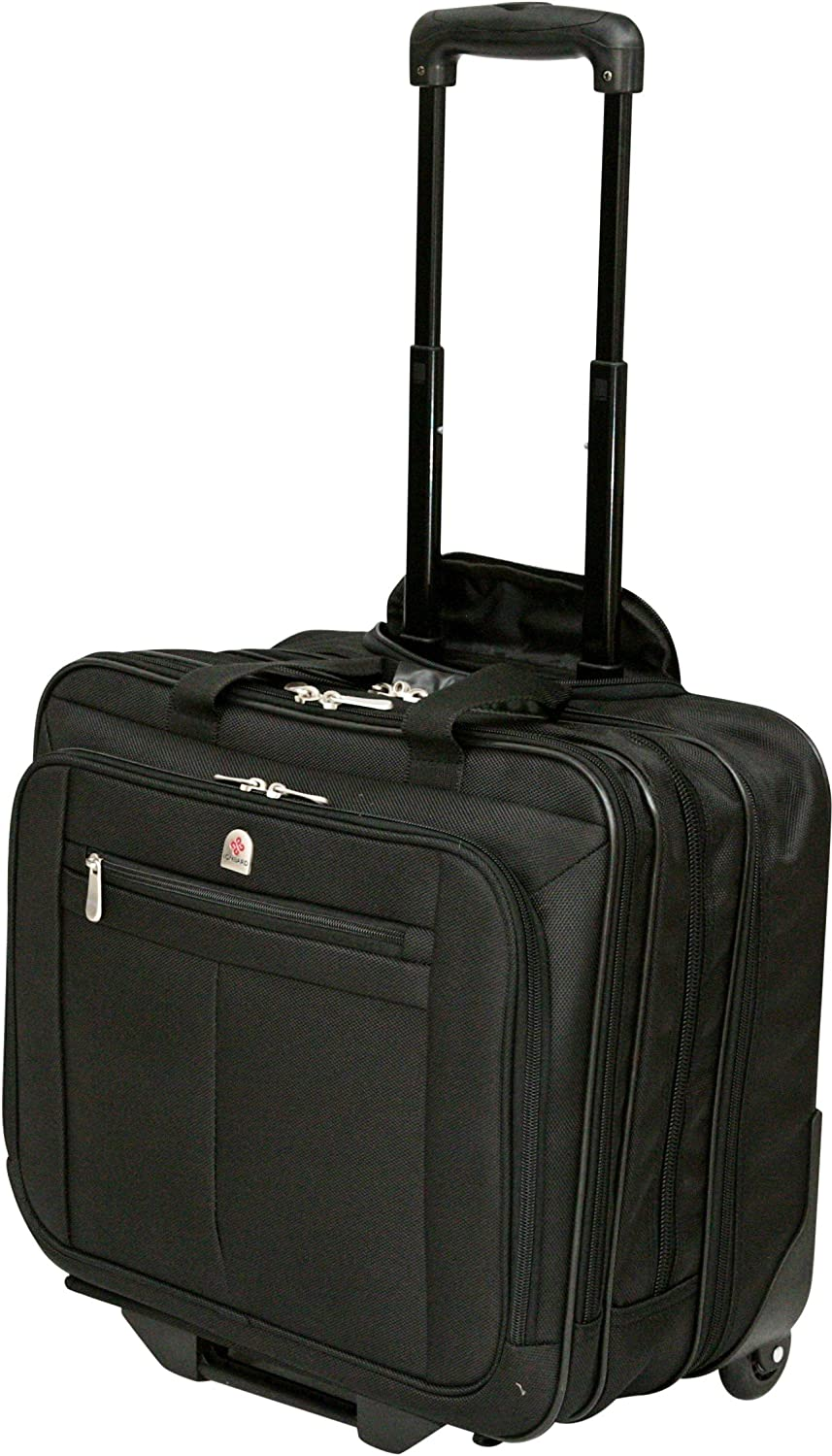 "Executive Laptop Roller Bag Wheeled Pilot Case Briefcase Overnight & 15"" - 17"" Laptop Compartment"