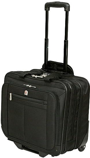 93a5ae85b0ca Executive Laptop Roller Bag Wheeled Pilot Case Briefcase Overnight & 15
