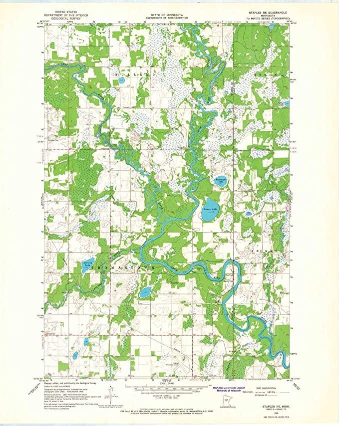 Amazoncom Yellowmaps Staples Ne Mn Topo Map 124000 Scale 75 X - Staples-us-map